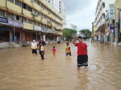 Mengharung Air di Pusat Bandar
